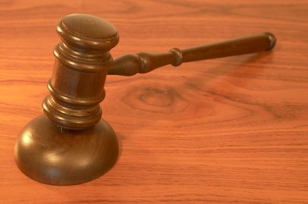 gavel close up on wood surface with shallow dof Stock Photo - 901301
