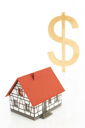 real estate concept with US dollar sign on white, space for messages Stock Photo - 901349