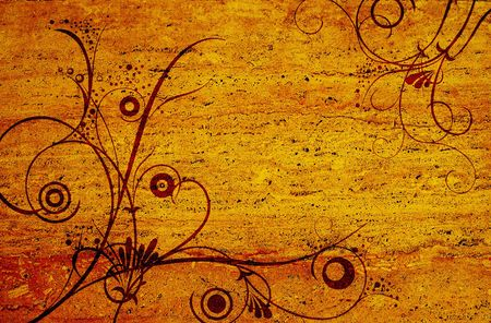 grunge vector ornament on rusty texture for designs photo