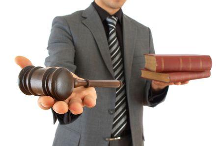 parlamentario: Hombre de negocios y la celebraci�n de martillo derecho libros, someras dof