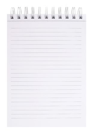 blank notepad on white background for your messages Stock Photo