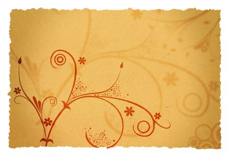 old page background with floral designs for your messages Stock Photo - 968738