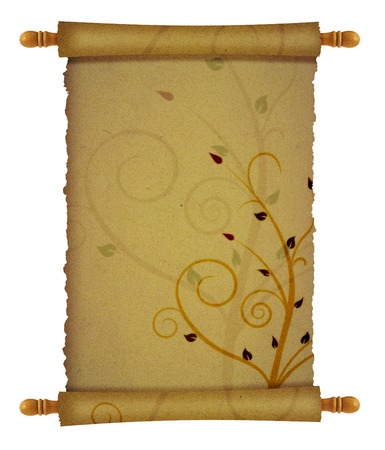old scroll papyrus background for your messages and designs with ornaments photo