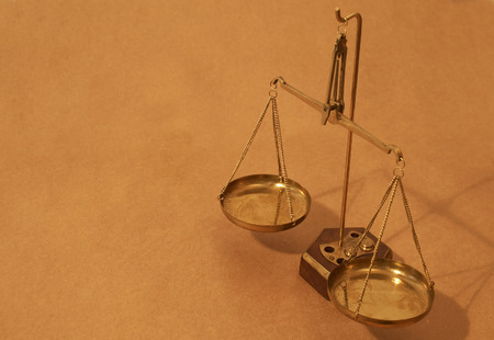 legal concept with balance of scales close up Stock Photo - 1693361