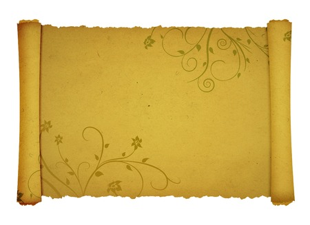 old antique scroll paper background for your designs photo