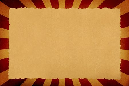 deflated: parchment paper background on sunbeam background