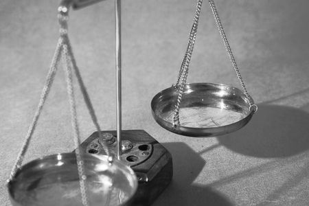 Scales of justice close up, shallow dof Stock Photo - 2254640