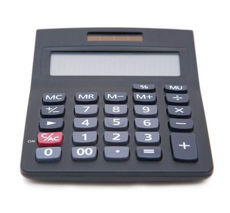 electronic calculator close up on white background Stock Photo - 2460428