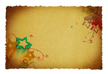 old paper background with flower ornaments and designs photo