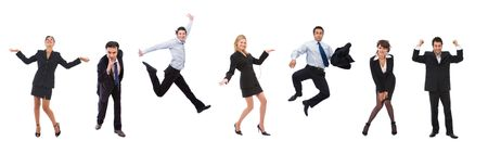 coworker: a lot of happy business people with different expressions Stock Photo