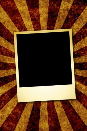 sun burnt: old paper background with sunbeam and picture frame for your messages and designs