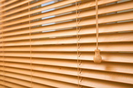 jalousie: home decoration concept with wood jalousie close up