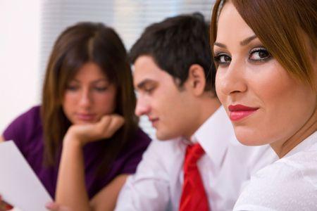 el trabajo en equipo concepto de negocio con las empresas las personas que trabajan en equipo, someras DOF  Foto de archivo - 3594497