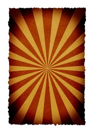 deflated: burned paper texture background with sunbeam effect Stock Photo