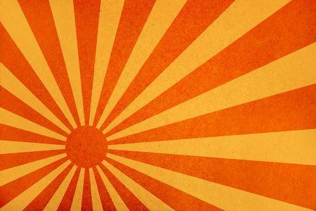 sun burnt: sunbeam illustration on old paper texture background