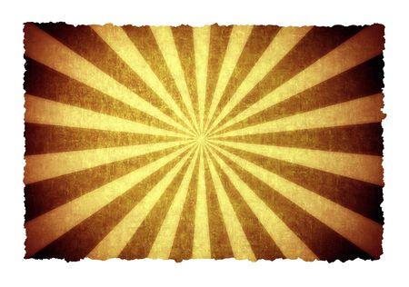 sun burnt: sunbeam graphic illustration on old paper background