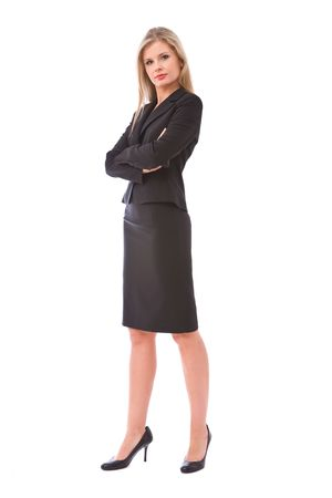 beautiful and happy businesswoman portrait on white Stock Photo - 3691222