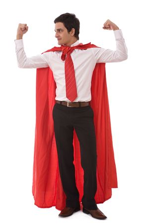 business leadership concept with a young hero businessman Stock Photo