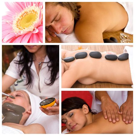 spa concept with different types of services Stock Photo