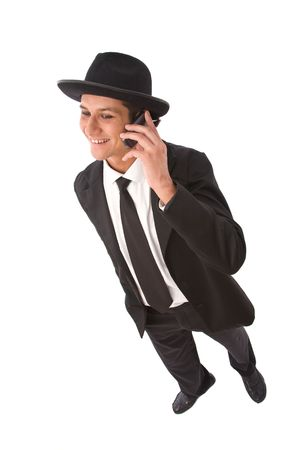 telework: Businessman on the cell phone