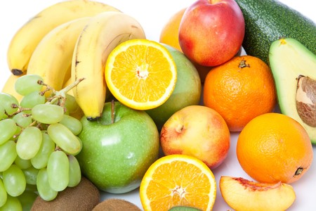 colorful fruits close up on white Stock Photo - 7896485