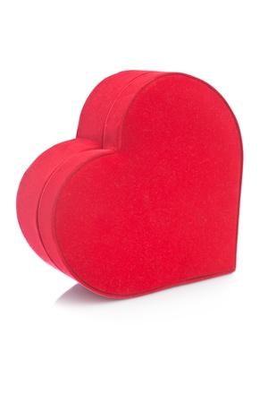Heart shaped gift box isolated on white background Stock Photo - 8391132