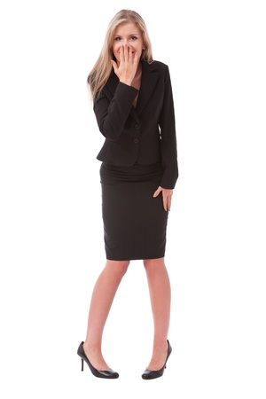 Young businesswoman surprised Stock Photo - 8386371
