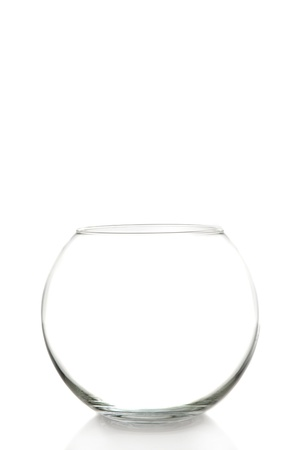 empty fish bowl on a white background with space for messages Stock Photo - 8386355
