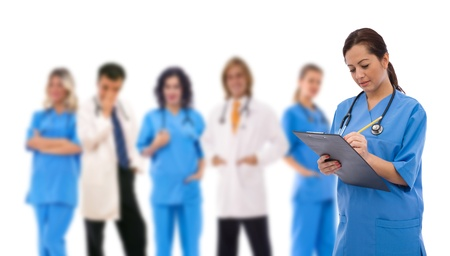 medical teamwork concept with a team of doctors photo