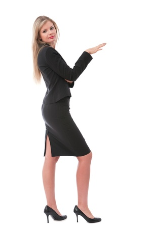 Young business executive in skirt posing at camera Stock Photo - 8650867