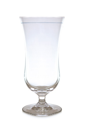 stemware: Empty cocktail  glass isolated on white background Stock Photo