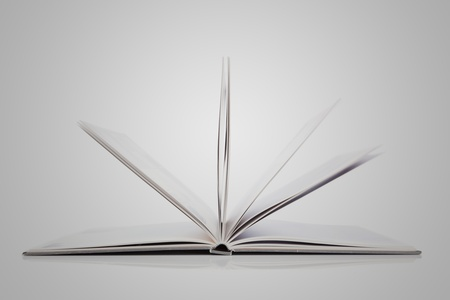 Open Book on white background Stock Photo - 8650873