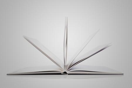 Open Book on white background Stock Photo - 8650873