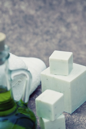 massage therapy and wellness objects close up with shallow dof  photo