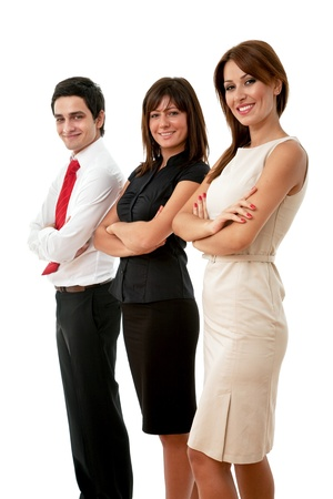 young team of business people on white background photo