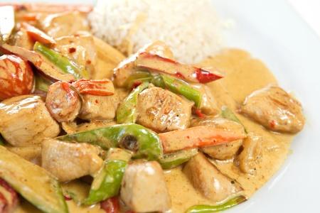 chicken curry: Gesunde und nahrhafte Reis mit Chicken curry