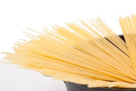 bolognaise: Uncooked spaghetti bolognaise