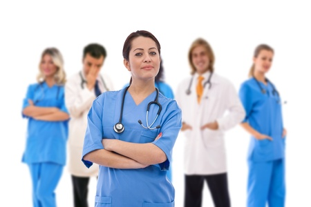 medical concept with doctors at the hospital Stock Photo