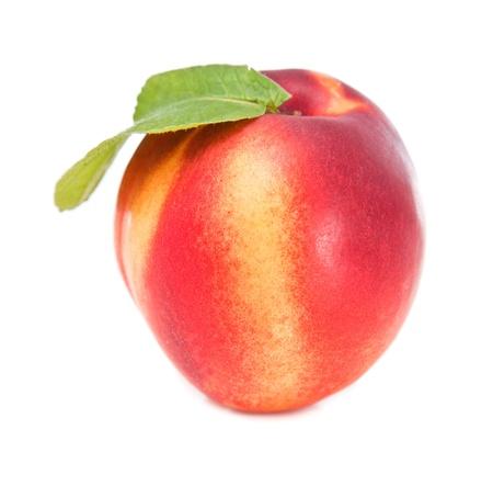 beautiful peach on white background