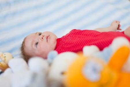 cute baby portrait close up, shallow dof