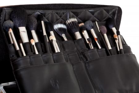 make up accessories close up, shallow dof
