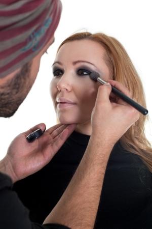 young beautiful woman having a fashion make up