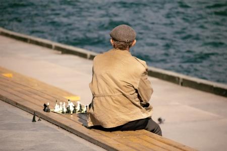 hombre solitario: hombre