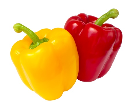 sweet peppers: peppers two Stock Photo