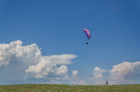 parapente: Parapente en el cielo