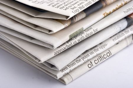 actuality: Stacked newspaper