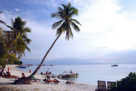 Sea side view at Redang Beach, Malaysia. photo
