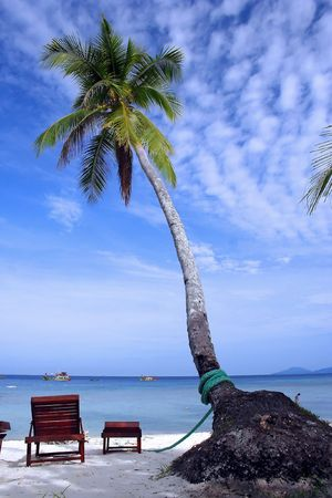 lang: Redang Lang Tengah Beach at Malaysia. Stock Photo