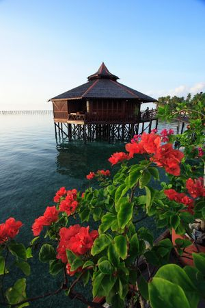 Mabul Island Resort, Sabah, Malaysa. Stock Photo