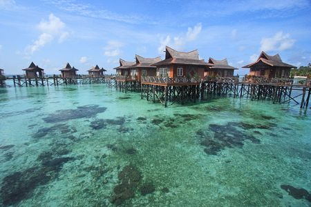 Mabul Island Resort, Sabah, Malaysa. Stock Photo